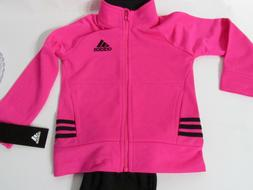 ADIDAS Toddler Girls 2pc Set: Graphic Joggers &  Full Zip Tr