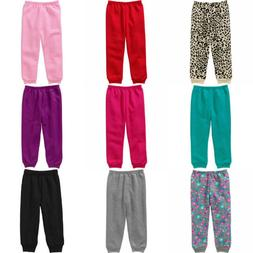 Toddler Girls Joggers Pants Pull-on Knit Turquoise, Red, Ros