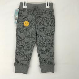 Cat and Jack Toddler Size 2T Jogger Sweat Pants Gray Black F