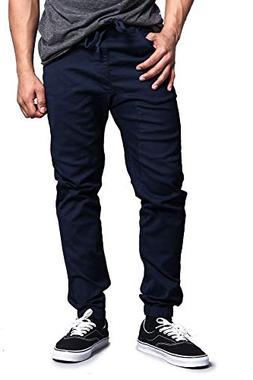 Victorious Mens Twill Jogger Pants, Navy S
