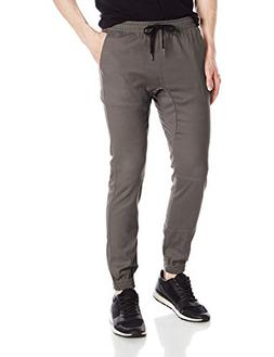 Brooklyn Athletics Men's Twill Jogger Pants Soft Stretch Sli