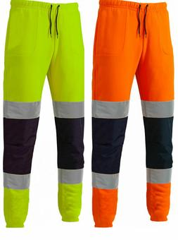 Dickies two tone jogging bottoms Men's Hi Vis viz Work Refle