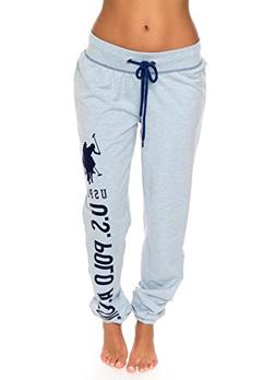 U.S. Polo Assn. Womens Printed French Terry Boyfriend Jogger