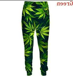 Unisex Fashion Funny Weed 3D Print Casual Pants Sweatpants T