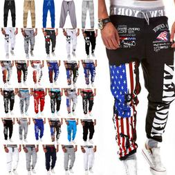 US Mens Tracksuit Bottoms Gym Sports Trousers Casual Jogging
