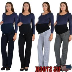 US Stock Maternity Clothes Pregnancy Loose Long Pants For Pr