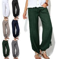 US Women Casual Loose Sweatpant Sports Harem Trousers Yoga J