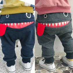 USA Toddler Kids Baby Boy Pants Bottom Cotton Baggy Jogger T