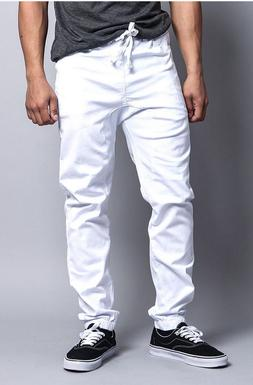 victorious jogger white elastic waist joggers drop