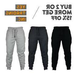 VISION MENS CASUAL SWEATPANTS SLIM-FIT JOGGERS FLEECE PANTS