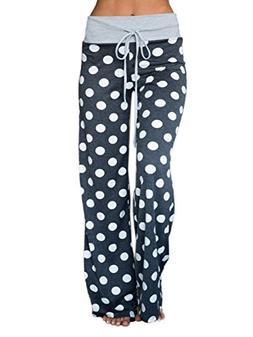 WD-Amour Women's Comfy Stretch Floral Print Drawstring Palaz