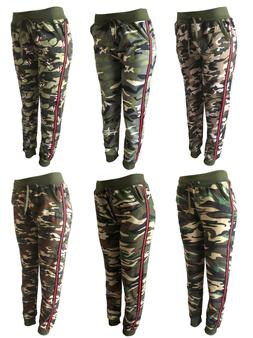 Women Camo SweatPants Camouflage Jogger Pants Work Out Track