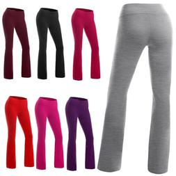 Women Joggers High Waist Yoga Flare Boot Cut Leg Stretch Bot