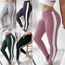 Women Joggers Sports Leggings Drawstring Pants Slim Trousers
