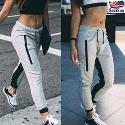 Women Joggers Tracksuit Bottoms Trousers Gym Jogging Sweat P