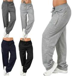 Women Joggers Tracksuit Yoga Leggings Sport Trousers Jogging
