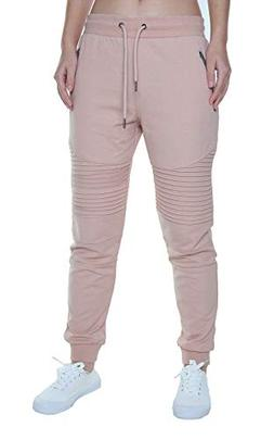 FORBIDEFENSE Women's Biker Jogger Pants With Casual Comforta