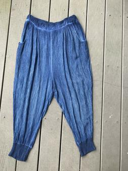 Women's Free People blue or coral Drop Crotch Jogger Harem P