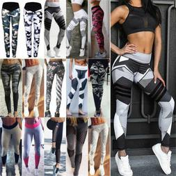 Women's Camo Yoga Pants Fitness Leggings Striped Floral Exer