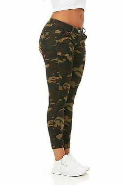 Cover Girl Women's Camouflage Skinny Jeans Joggers Cargo  Ju