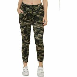 Women's Cotton Lycra Army Sports Gym Joggers Athletic Traini