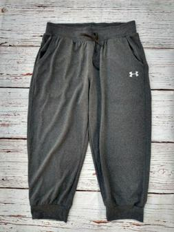Under Armour Women's Heatgear Joggers, cropped size xs gray