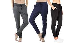 Ambiance Women's Juniors Soft Jogger Pants )