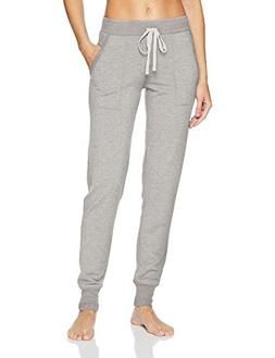 Mae Women's Loungewear French Terry Jogger Pant, Heather Gre