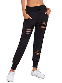 MIKA HOM Women's Striped Tape Side Drawstring Sweatpants Jog