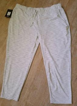 Avia Women's Travel Pant Joggers Spandex XL XXXL Light Grey