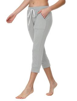 Baleaf Women's Yoga Capri Sweatpants Active Lounge Jogger Li