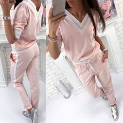 Women 2pcs Tracksuit Hoodies Sweats Sweatshirt Pants Sets Sp