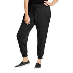 Ideology Womens Black Comfort Waist Pull On Jogger Pants Plu