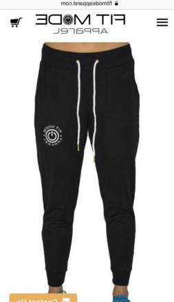 Women's Fit Mode Apparel Black Style Joggers Size Large Gy