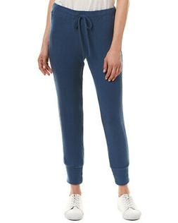 Three Dots Womens  Brushed Sweater Jogger, L, Blue