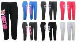 WOMENS CASUAL SWEATPANTS JOGGERS FLEECE HOUSE PANTS GYM WORK