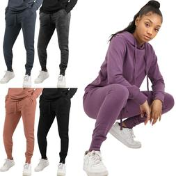 Womens Fleece Jogger Pants Sweatpants Premium French Terry W
