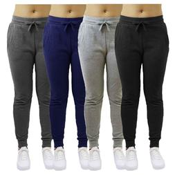Womens French Terry Jogger Pants Loose Fit Active Running Lo