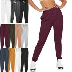 Womens French Terry Jogger Pants Sweatpants Active Running S