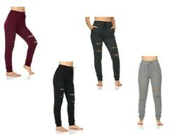 Womens Ladies Joggers Tracksuit Bottoms Trousers Slacks Gym