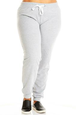 Womens Ladies Plus Sizes Curvy Fleece Resistant Dance Jogger