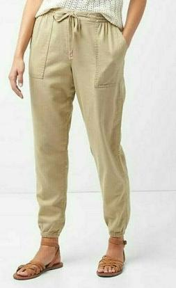 GAP Womens Pants Size XL Utility Joggers Beige Twill Iconic