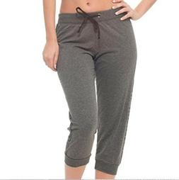 COCO LIMON Womens Plus Size 3X Gray Jogger Capri Sweatpants