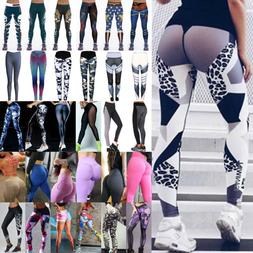 Womens Sports Yoga Leggings Workouts Gym Fitness Pants Athle