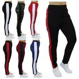 Womens Track Jogger Sweatpants Running Stripe Active Sports