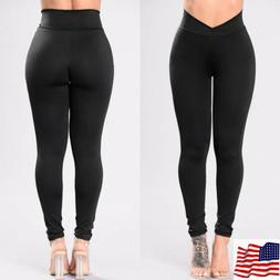 Womens Yoga Fitness Leggings Running Athletic Sports Stretch