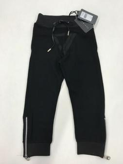 Vie Riche Youth Black In Black Ankle Zip Jogger Size 2-4 Nic